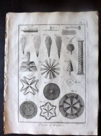 Diderot C1790 Antique Print. Pieces d'Artifice. Fireworks 02